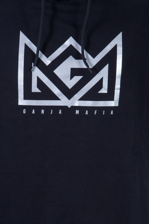 GANJA MAFIA BLUZA Z KAPTUREM CROWN BLACK