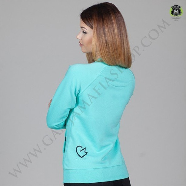 GANJA MAFIA CREWNECK WOMEN MRS. SMOKER MINT