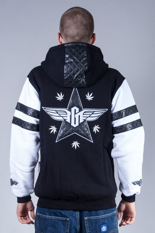 GANJA MAFIA HOODIE ZIP GENERAL LEATHER BLACK