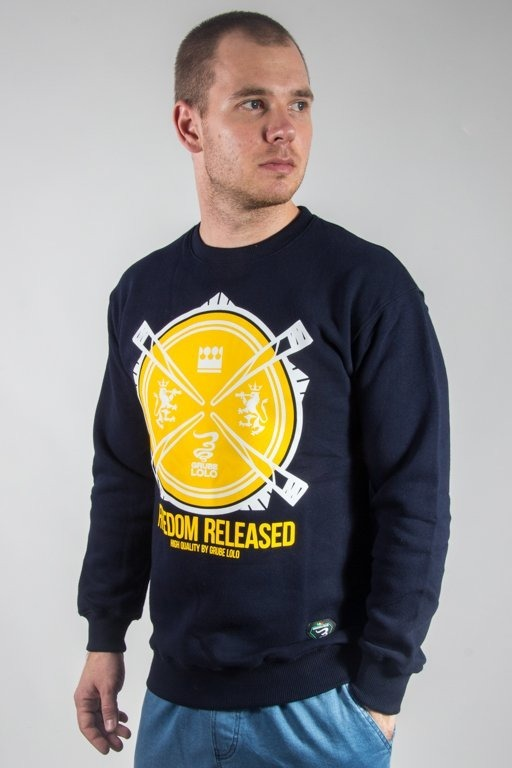 GRUBE LOLO CREWNECK FREEDOM RELEASED NAVY