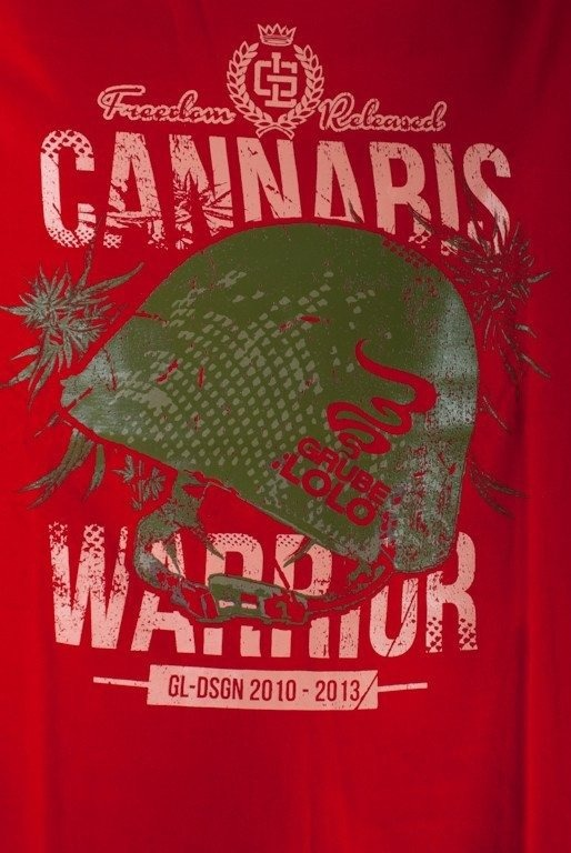 GRUBE LOLO KOSZULKA CANNABIS WARRIOR RED