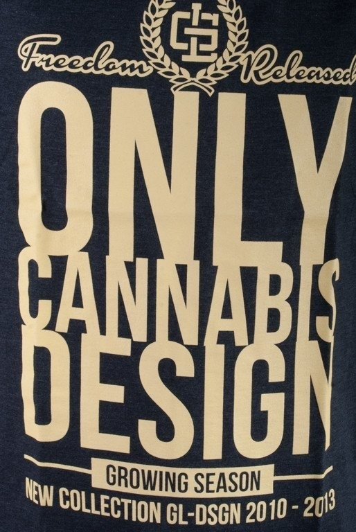 GRUBE LOLO KOSZULKA ONLY CANNABIS DESIGN GREY