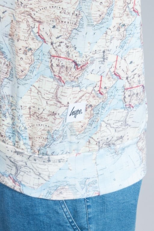 HYPE BLUZA VINTAGE MAP MULTI