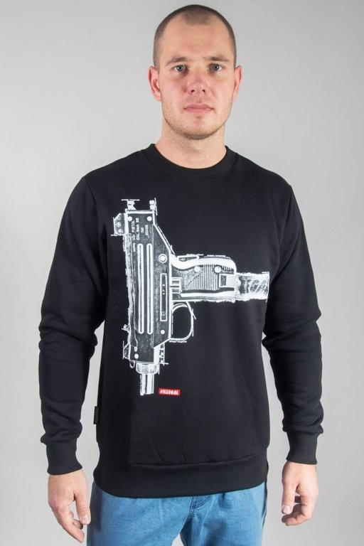 ILLEGAL CREWNECK GUN BLACK