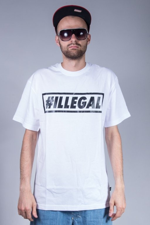 ILLEGAL T-SHIRT KLASYK WHITE