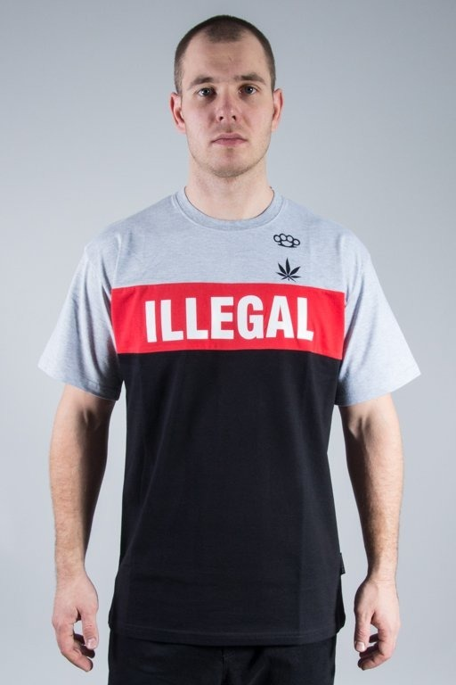 ILLEGAL T-SHIRT RED BOX GREY