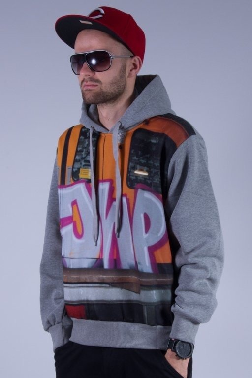 JWP BLUZA  KAPTUREM TRAIN GREY