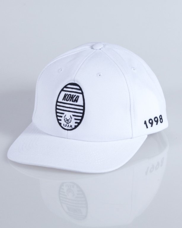 KOKA CAP 6PANEL TRUIN  WHITE