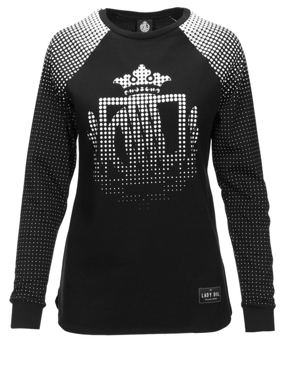 LADY DIIL LONGSLEEVE DOTS BLACK-WHITE