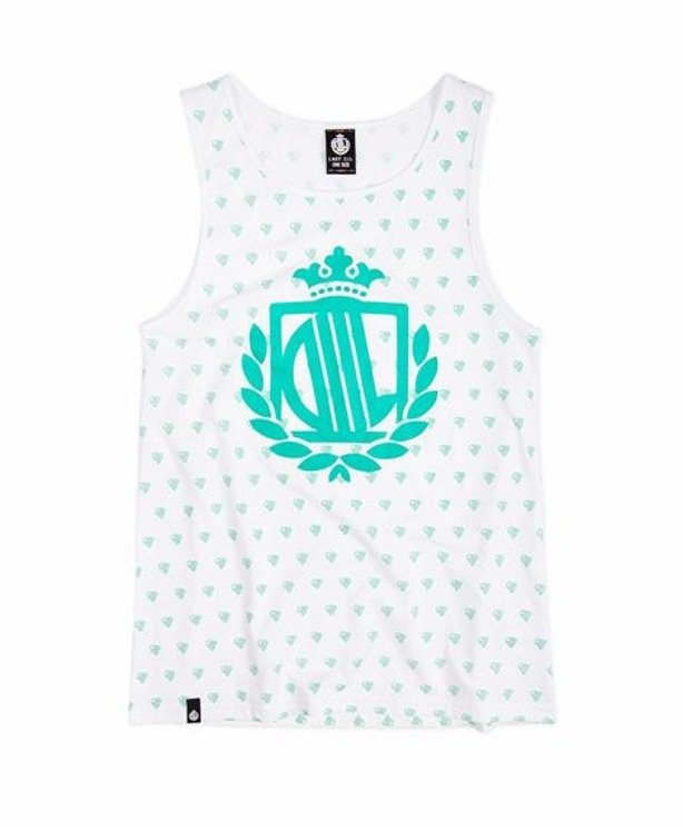 LADY DIIL TANK TOP HEART WHITE-MINT