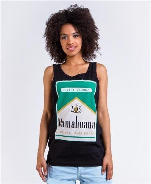 LADY DIIL TANK TOP MAMAHUANA BLACK
