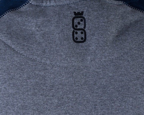 LUCKY DICE BLUZA BEZ KAPTURA REGLAN GREY-BLUE