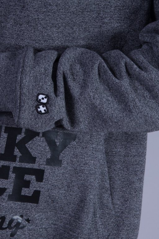 LUCKY DICE BLUZA Z KAPTUREM SLIM GREY