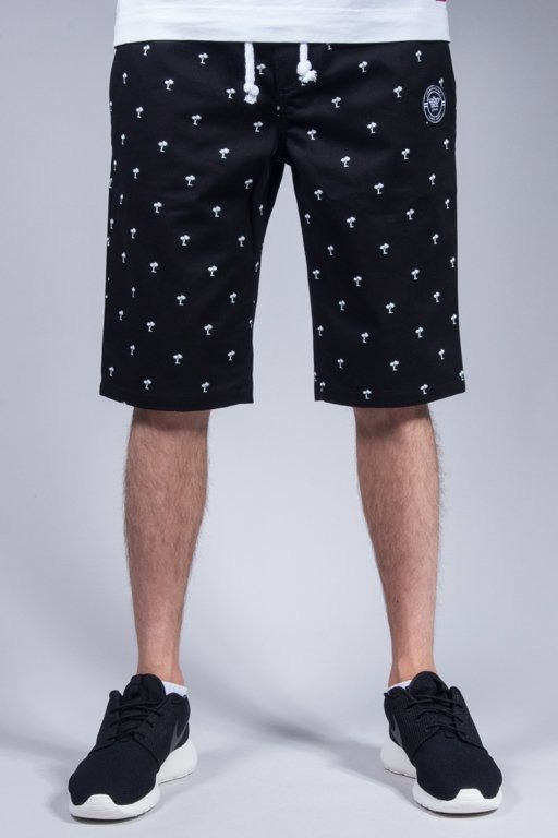 LUCKY DICE CHINO SHORTS PALMS BLACK