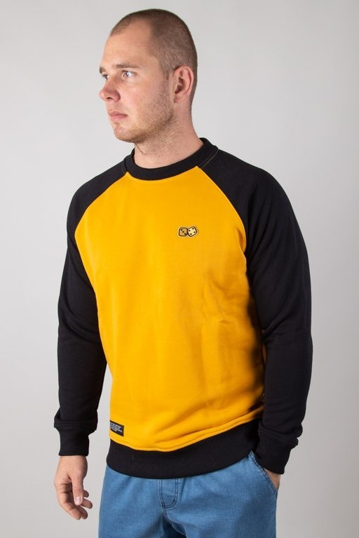 LUCKY DICE CREWNECK BASIC RAGLAN HONEY-BLACK