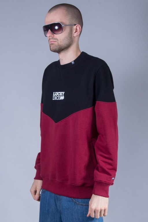 LUCKY DICE CREWNECK TRIANGLE BLACK-BRICK