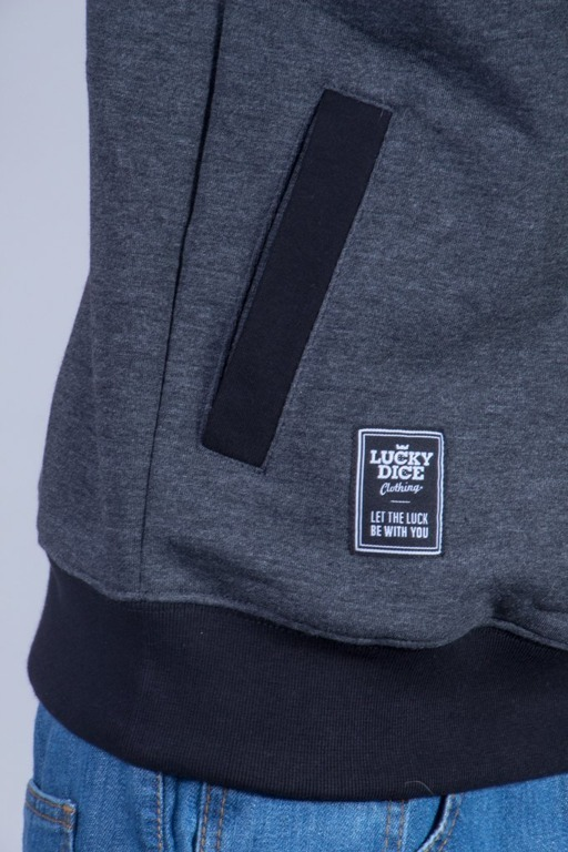LUCKY DICE CREWNECK TRIANGLE BLACK-GREY