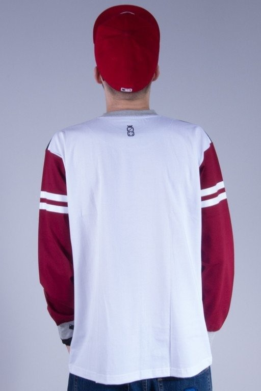 LUCKY DICE LONGSLEEVE COLLEGE WHITE-BRICK