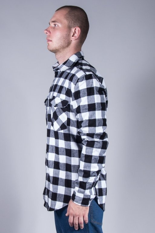 LUCKY DICE SHIRT FLANEL BLACK-WHITE