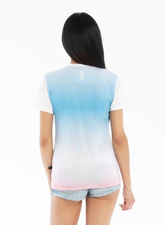 LUCKY DICE T-SHIRT GIRL GRADIENT BLUE