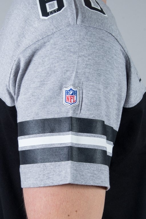 MAJESTIC KOSZULKA GRAPHER NFL MELANGE-BLACK