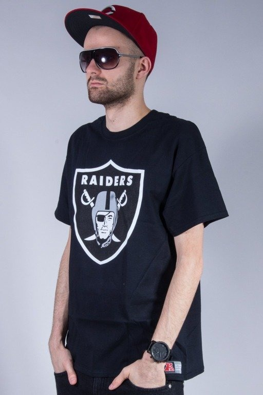 MAJESTIC KOSZULKA PRISM LARGE LOGO RAIDERS BLACK