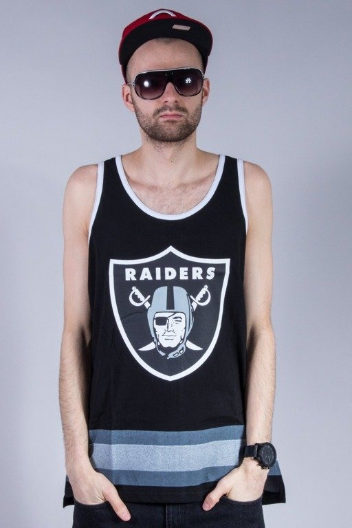 MAJESTIC TANK TOP ELDRIDGE RAIDERS BLACK