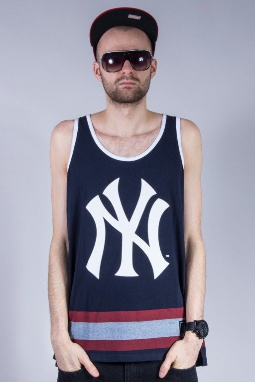 MAJESTIC TANK TOP ELDRIDGE YANKEES NAVY