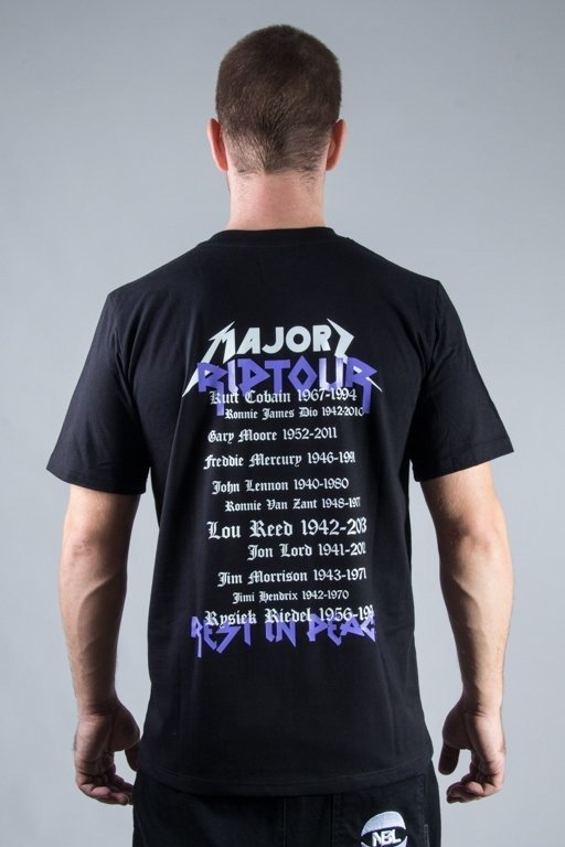 MAJORS T-SHIRT RIPTOUR BLACK