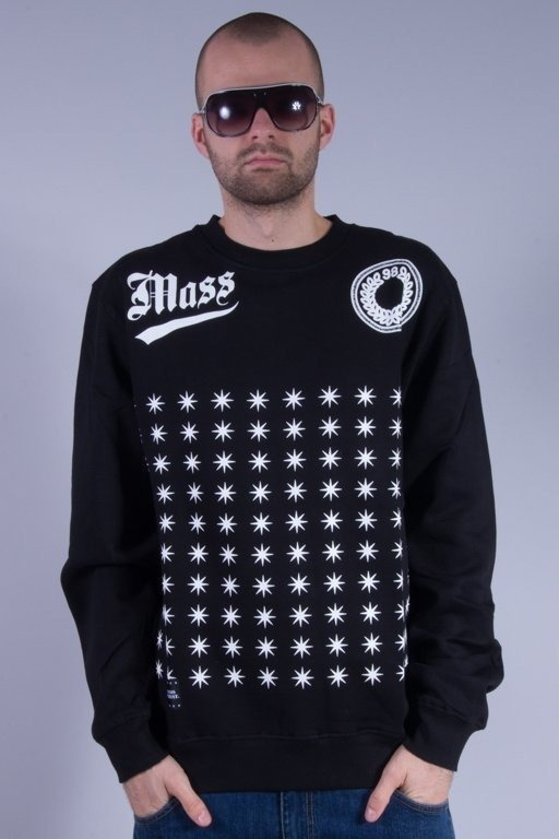 MASS BLUZA BEZ KAPTURA EMBLEM BLACK