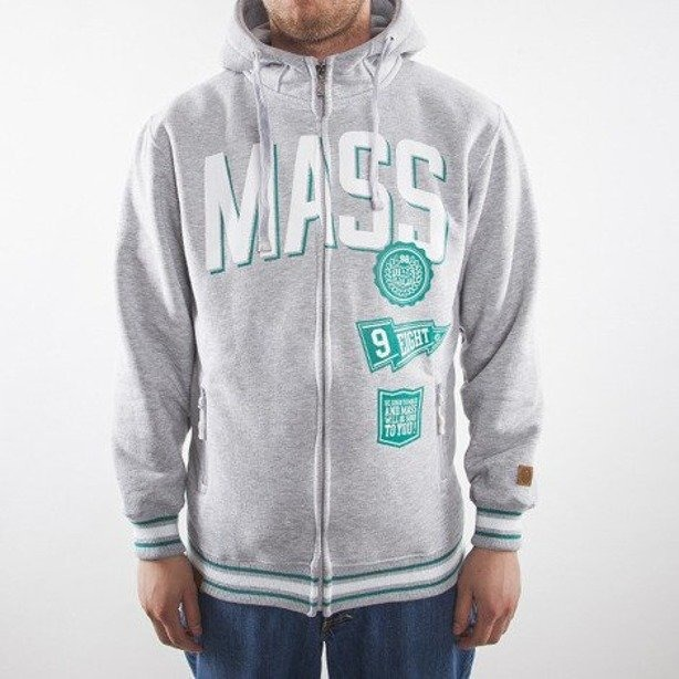 MASS BLUZA Z KAPTUREM WINNER GREY