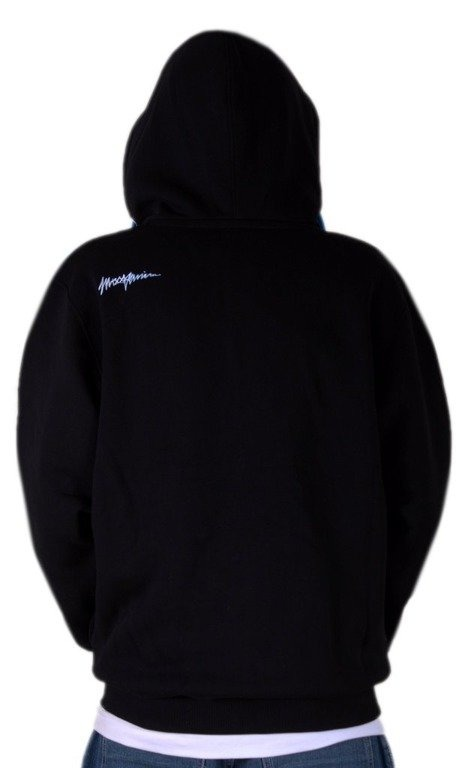 MASS BLUZA Z KAPTUREM ZIP CAMARO BLACK-BLUE