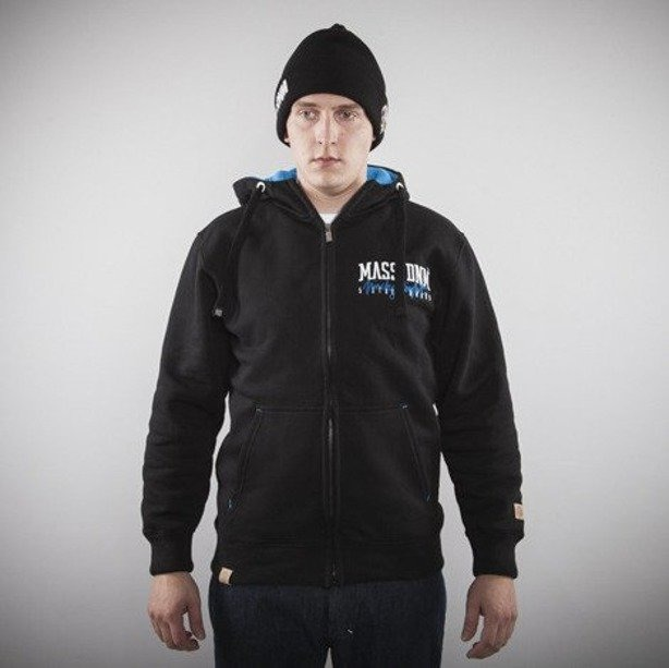 MASS BLUZA Z KAPTUREM ZIP CONCRETE BLACK