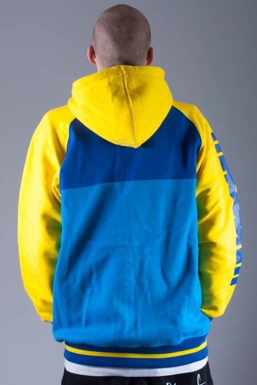 MASS BLUZA Z KAPTUREM ZIP DISPLAY BLUE-YELLOW