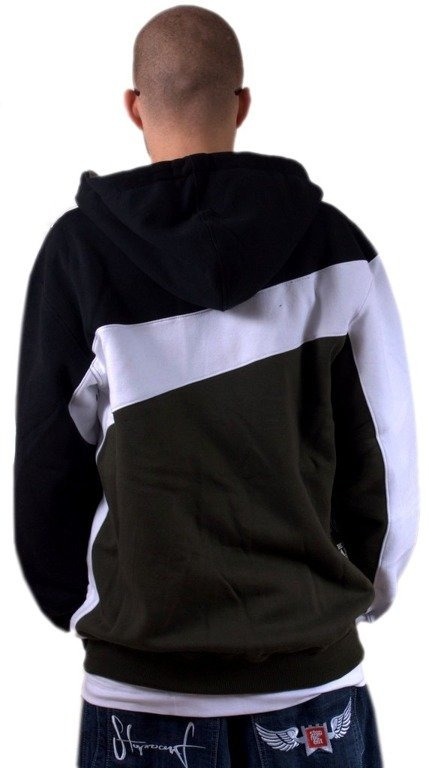 MASS BLUZA Z KAPTUREM ZIP FLAG BLACK