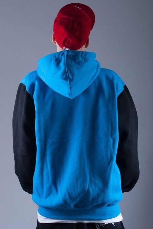 MASS BLUZA Z KAPTUREM ZIP OVERSIZE BLUE