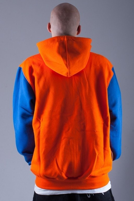 MASS BLUZA Z KAPTUREM ZIP OVERSIZE ORANGE