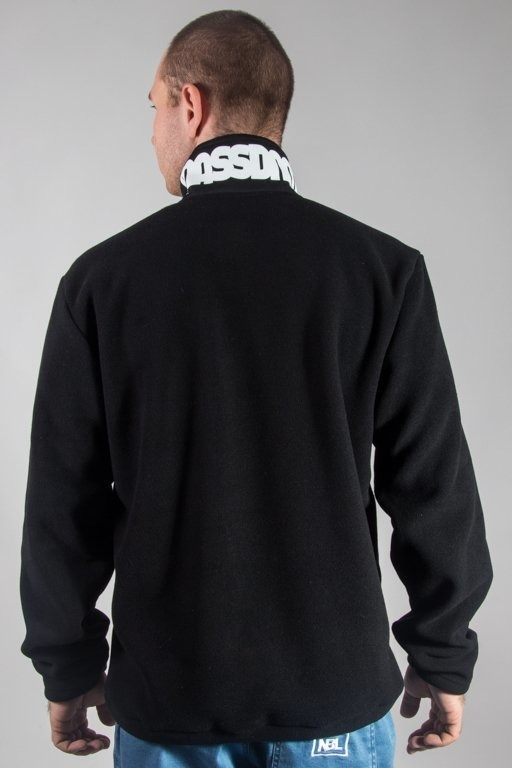MASS CREWNECK HALF ZIP PLAY OFF POLAR BLACK