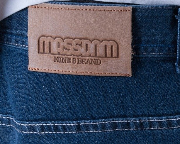 MASS SPODNIE JEANS BAGGY COMPETITION BLUE