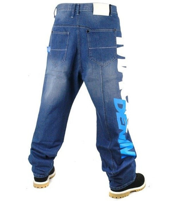 MASS SPODNIE JEANS FLAG BLUE