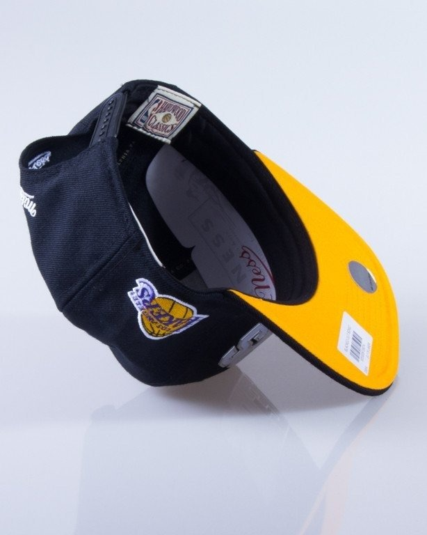 MITCHELL & NESS CZAPKA SNAPBACK EU179 LOS ANGELES LAKERS SONIC BLACK