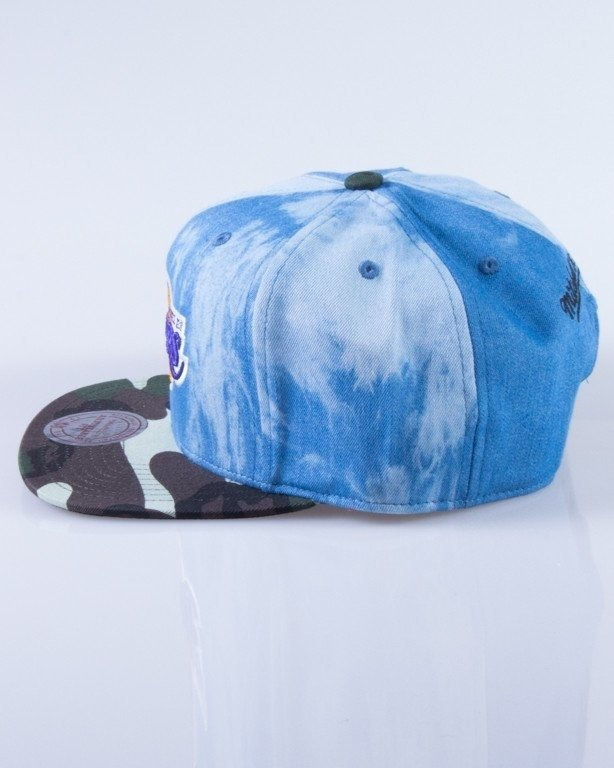 MITCHELL & NESS CZAPKA SNAPBACK LOS ANGELES LAKERS DENIM CAMO