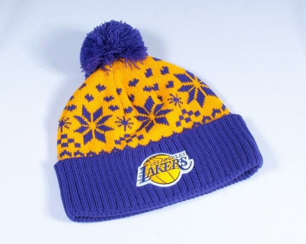 MITCHELL & NESS CZAPKA ZIMOWA EU094 LA LAKERS