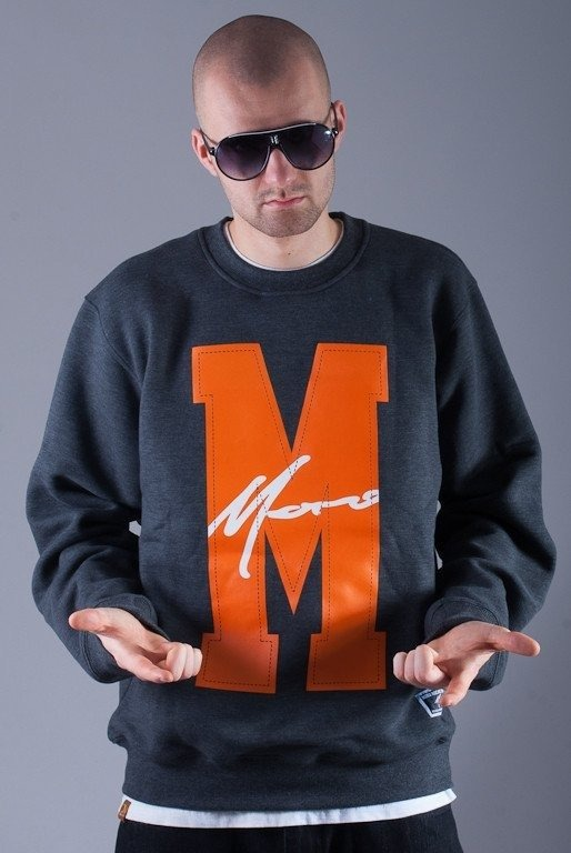 MORO BLUZA BEZ KAPTURA BIG M PARIS GREY-ORANGE