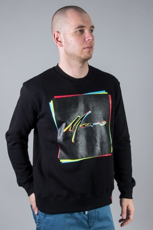 MORO CREWNECK RECTANGLES BLACK