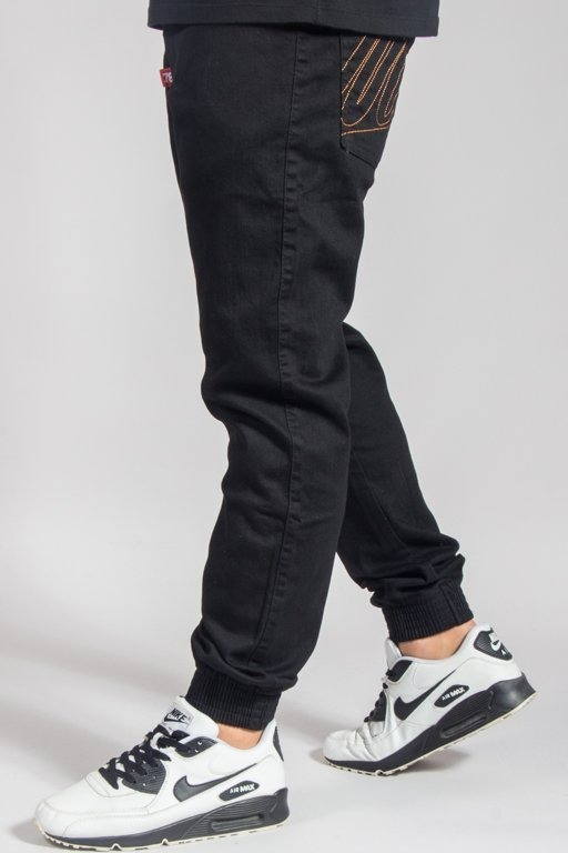 MORO PANTS JEANS JOGGER BASEBALL OUTLINE BLACK