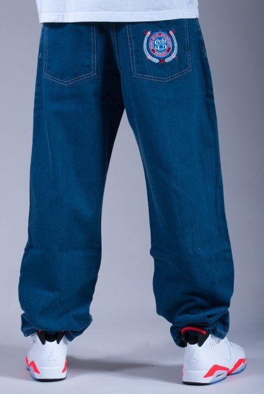 MORO SPODNIE JEANS BASEBALL NORMAL MEDIUM BLUE