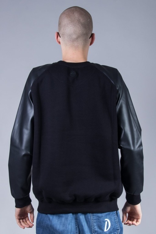 MORO SPORT CREWNECK PARIS LEATHER BLACK