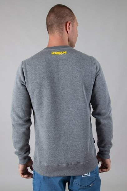 NEW BAD LINE CREWNECK CUT ICON MELANGE
