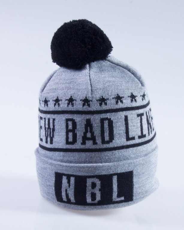 NEW BAD LINE CZAPKA ZIMOWA SWAG GREY